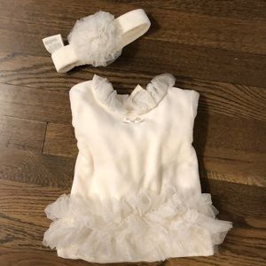 Infant tutu onesie with bow